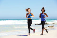 Two healthy young female runners Stock Photos