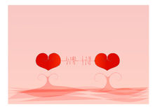 Two heart Royalty Free Stock Photo