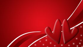 Two heart. Illustration of two heart on the red background Royalty Free Stock Photography
