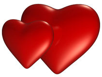 Two heart. With clipping path royalty free illustration