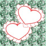Two heart background vector design Royalty Free Stock Image