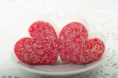 Two heart cakes Royalty Free Stock Photography