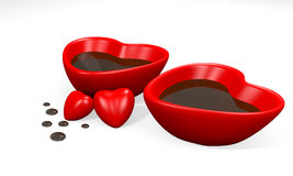 Two heart cup Royalty Free Stock Image
