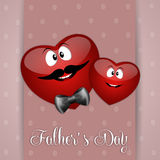 Two heart for Father's Day Stock Photos