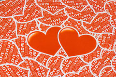 Two heart Royalty Free Stock Photos
