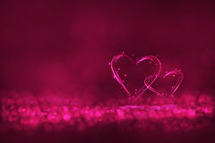 Two heart lighting Royalty Free Stock Photo
