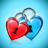 Two Heart Locks royalty free illustration
