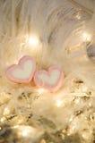 Two heart marshmallow Royalty Free Stock Photos