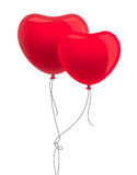 Two heart-shape balloons Royalty Free Stock Photo