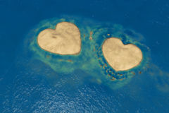 Two heart shape islands Royalty Free Stock Image