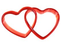 Free Two Heart-shaped Rings Royalty Free Stock Photos - 7800938