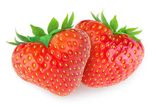 Free Two Heart-shaped Strawberries Royalty Free Stock Photo - 28572145