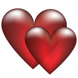 Two heart Royalty Free Stock Photography