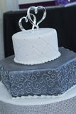 Two-Heart Wedding Cake Royalty Free Stock Images