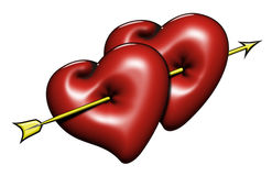 Two-hearts-03 Lizenzfreies Stockbild
