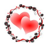 Two hearts. Abstract valentines background with two hearts Royalty Free Stock Image