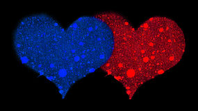 Two hearts. Royalty Free Stock Images