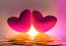 Two Hearts Royalty Free Stock Photo