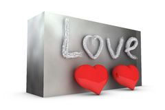 Two hearts Royalty Free Stock Images