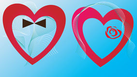 Two of hearts Royalty Free Stock Photos