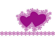 Two hearts. Two valentines hearts for decoration Royalty Free Stock Photo