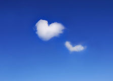 Two hearts. Clouds in the shape of heart Stock Image