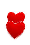Two hearts arranged one on the other Royalty Free Stock Photography