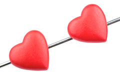 Two hearts on arrow Royalty Free Stock Image