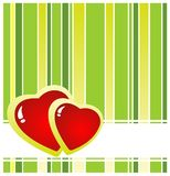 Two hearts background Royalty Free Stock Images