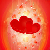 Two hearts background Stock Photography