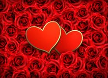 Two hearts on background Stock Images