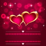 Two hearts. On the background with flares Stock Photo