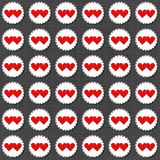 Two hearts badges Valentines Day seamless pattern Royalty Free Stock Photo
