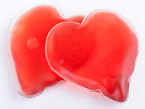 two hearts with blood Royalty Free Stock Photo