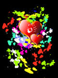 Two hearts on bright background Stock Photography