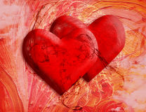 Two hearts - Card to St. Valentine's Day Royalty Free Stock Image