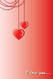 Two hearts on a chain Royalty Free Stock Photography