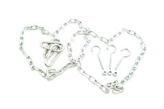 Two hearts of chains Royalty Free Stock Images