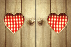 Two hearts checked Royalty Free Stock Image