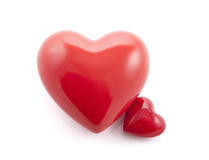 Two hearts. With clipping path royalty free stock photography