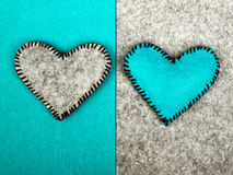Two hearts on different backgrounds Royalty Free Stock Photo