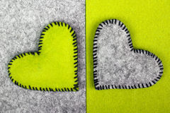 Two hearts on different backgrounds Royalty Free Stock Photography
