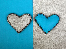 Two hearts on different backgrounds Royalty Free Stock Photos