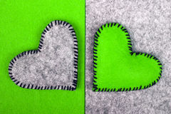 Two hearts on different backgrounds, Royalty Free Stock Images