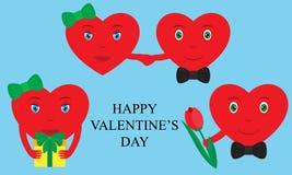 Two hearts emoji together. Design elements for Valentines Day vector illustration