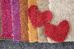 Two hearts fabric Royalty Free Stock Photo