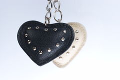 Two hearts fixed by chain Royalty Free Stock Photo