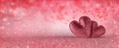 Free Two Hearts For Valentines Day Stock Images - 169274534