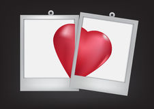 Two hearts, with frame black background Stock Photo