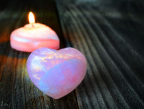 Two hearts: hot and cold Royalty Free Stock Photography